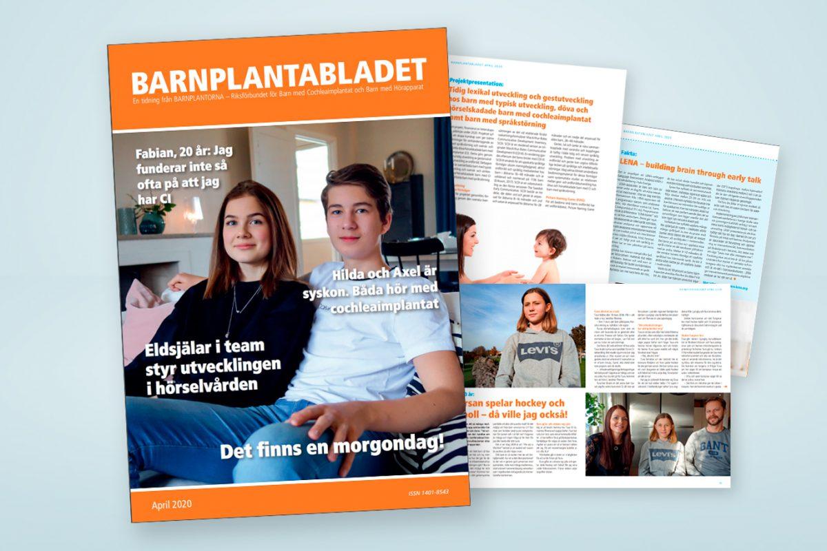 Barnplantabladet, april 2020. Grafisk produktion: Xtrovert Media, reklambyrå i Göteborg.