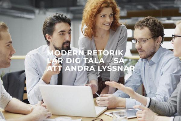 Webbproduktion av Xtrovert Media Reklambyrå. Ny webbsida till Modern Retorik (Kronkvist Kommunikation AB).
