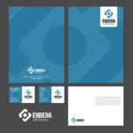 Accidensmaterial (visitkort, kuvert, offertmapp, brevpapper etc.) till Endera Networks