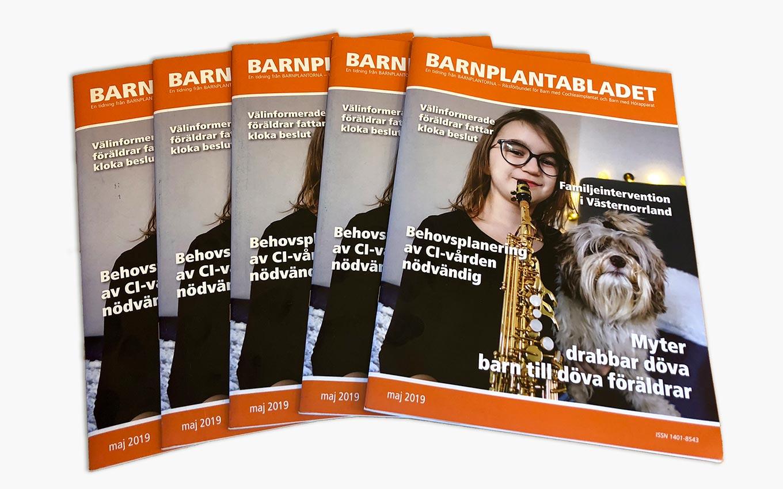 Tidningsproduktion för Barnplantorna av Xtrovert Media, reklambyrå i Göteborg.