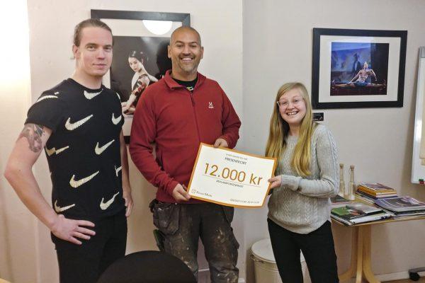 Vinnaren i Xtrovert Medias tävling om en logotyp samt grafisk profil – Ibrahim Tarlamisi med sitt företag Byggster.