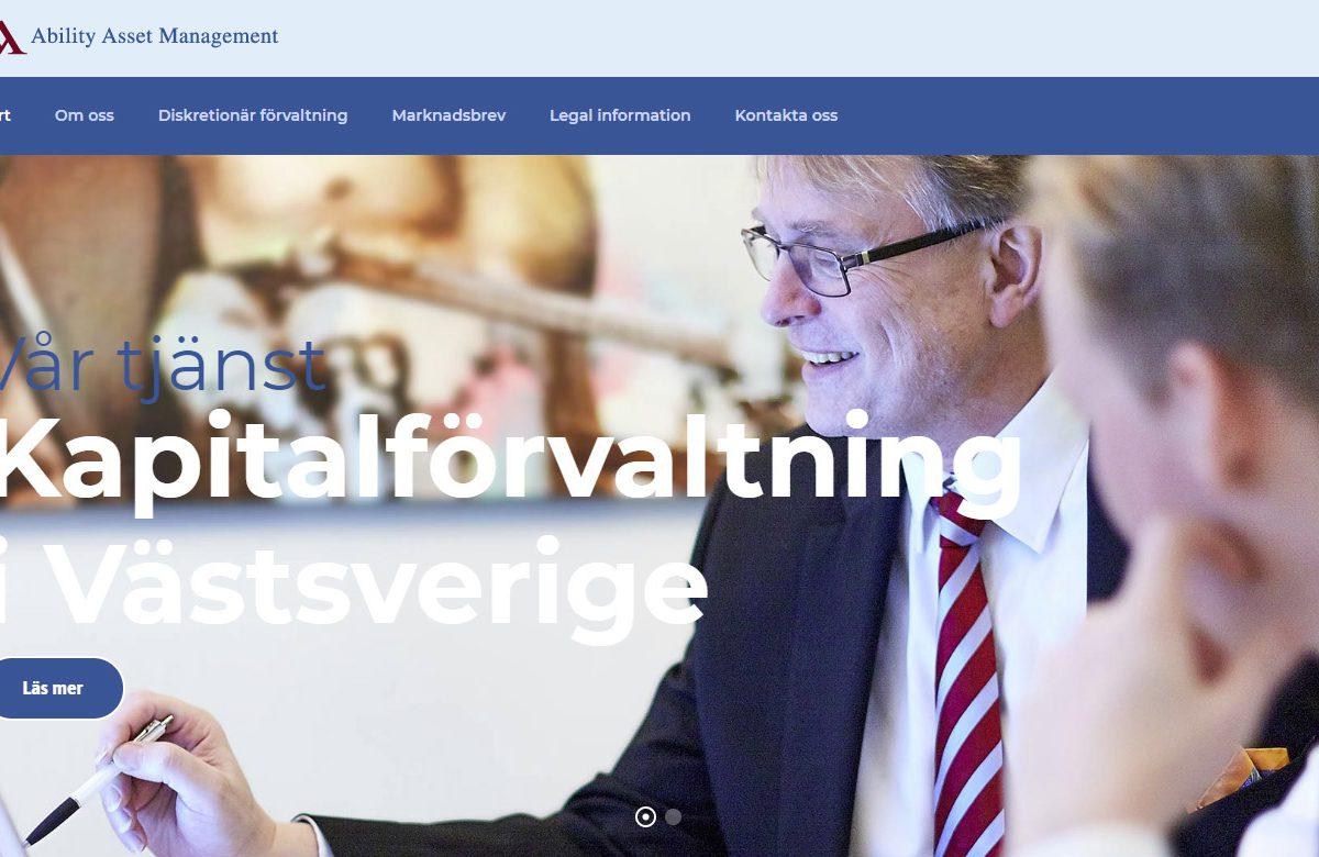 Ny webbsida till AAM från Xtrovert Media, reklambyrå i Göteborg.