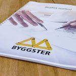 Grafisk manual från Xtrovert Media, reklambyrå i Göteborg, till byggfirman Byggster.